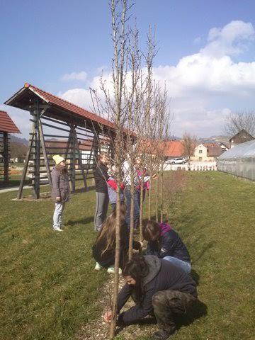 Študenti oskrbujejo vrt Dežele Kozolcev v Šentrupertu